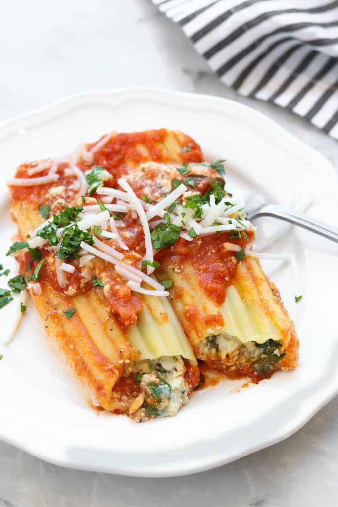 30 Vegan Italian Recipes - Vegan Manicotti | Hurry The Food Up