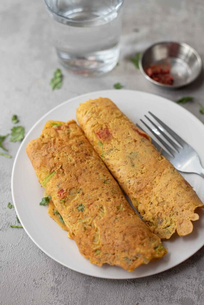 30 Low Fat Vegan Recipes - Vegan Chickpea Pancakes | Hurry The Food Up