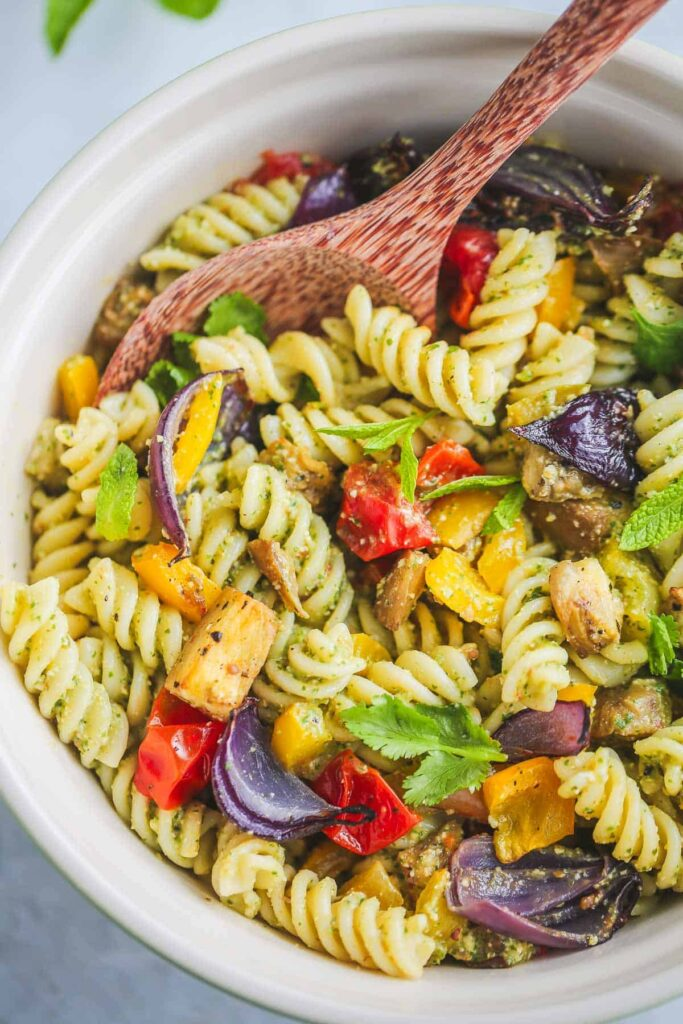 30 Low Fat Vegan Recipes - Vegan Pasta Salad | Hurry The Food Up