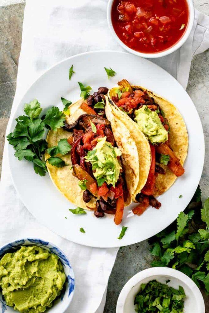 60 Perfect Vegetarian Dinner Recipes - Veggie Tacos (Vegan)   Hurry The Food Up