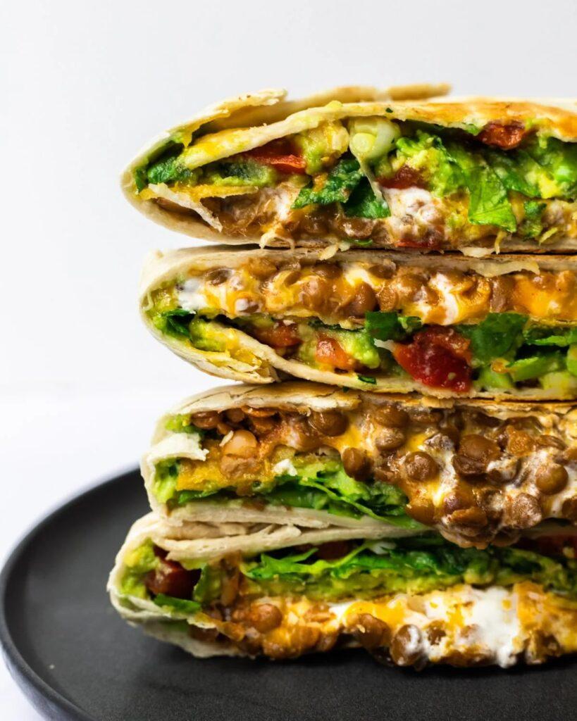 60 Perfect Vegetarian Dinner Recipes - Vegetarian Crunchwrap Supreme   Hurry The Food Up