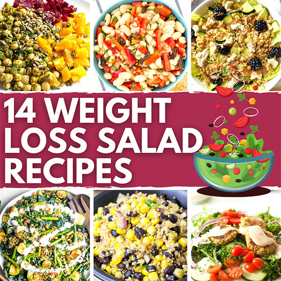 15 Weight Loss Salad Recipes - No limp lettuce here   Hurry The Food Up