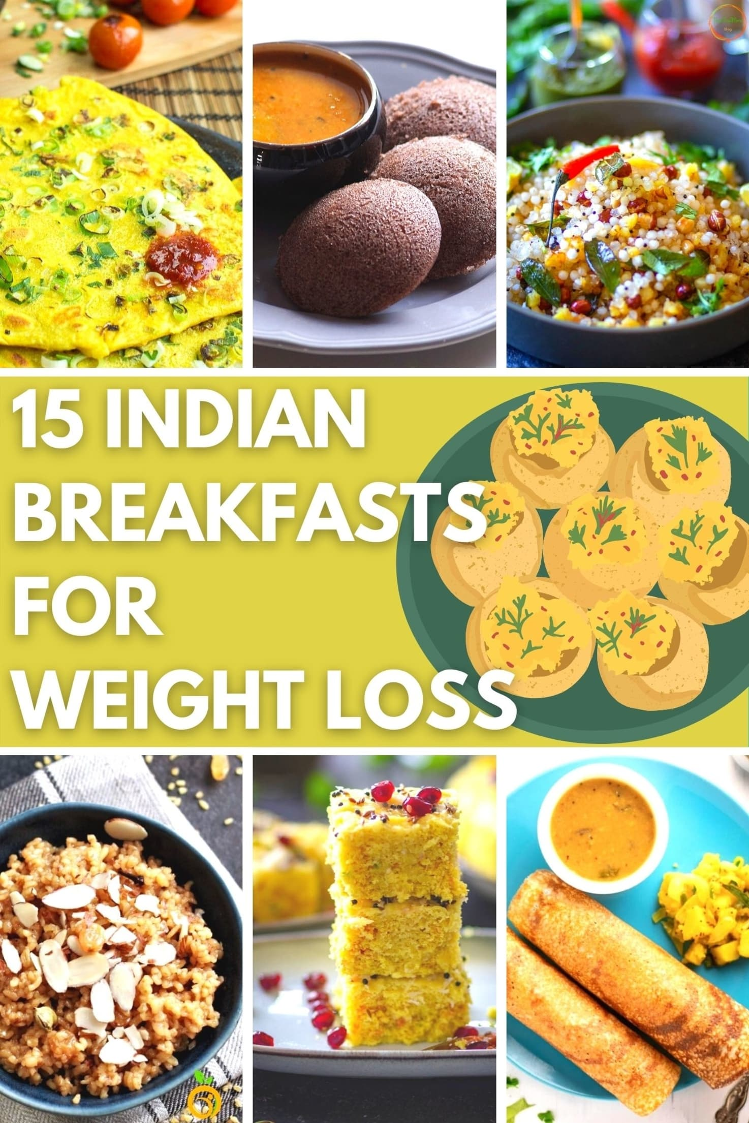 15 Indian Breakfasts for Weight Loss - Title Image | Hurry The Food Up