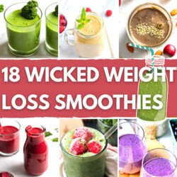 18 Wicked Weight Loss Smoothies - Featured Image | Hurry The Food Up