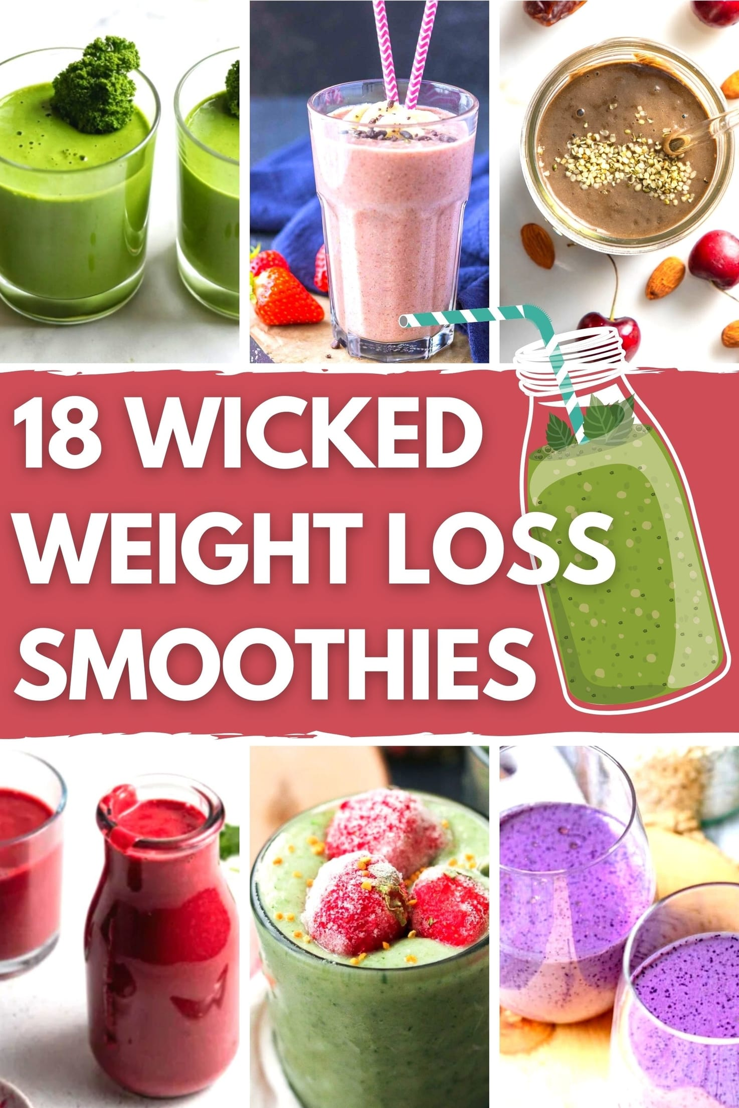 18 Wicked Weight Loss Smoothies - Title Image | Hurry The Food Up