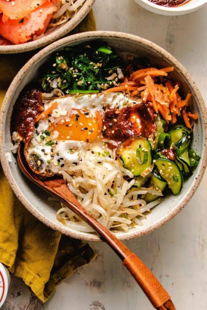 50 Healthy Vegetarian Recipes - Vegetarian Bibimbap Recipe   Hurry The Food Up