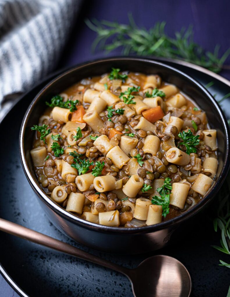 50 Healthy Vegetarian Recipes - Easy Pasta with Lentils   Hurry The Food Up