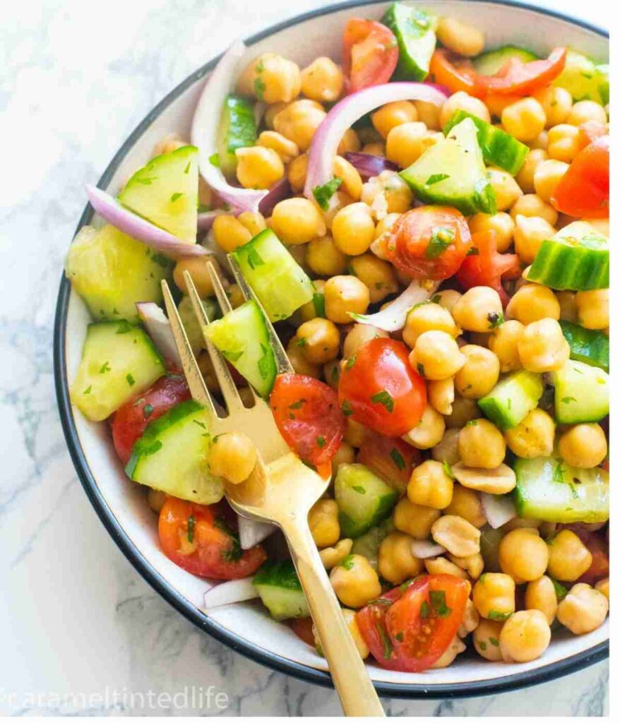 50 Healthy Vegetarian Recipes - Spiced Chickpea Salad   Hurry The Food Up