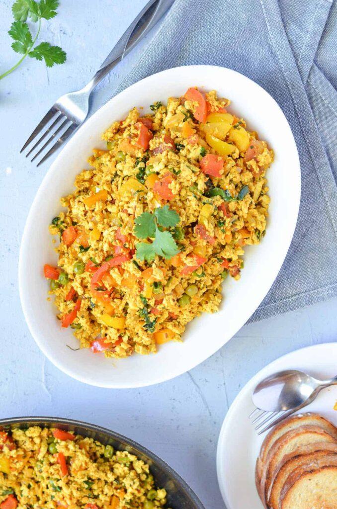 50 Healthy Vegetarian Recipes - Curry Tofu Scramble   Hurry The Food Up