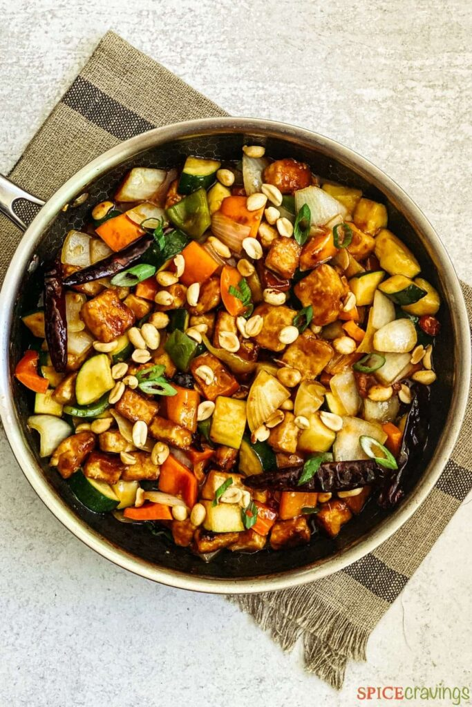 7 Low Carb High Protein Vegan Recipes - Kung Pao Tofu | Hurry The Food Up