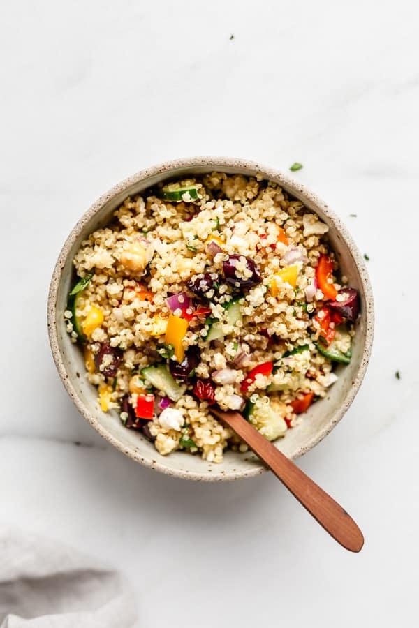 50 Healthy Vegetarian Recipes - Mediterranean Quinoa Salad   Hurry The Food Up