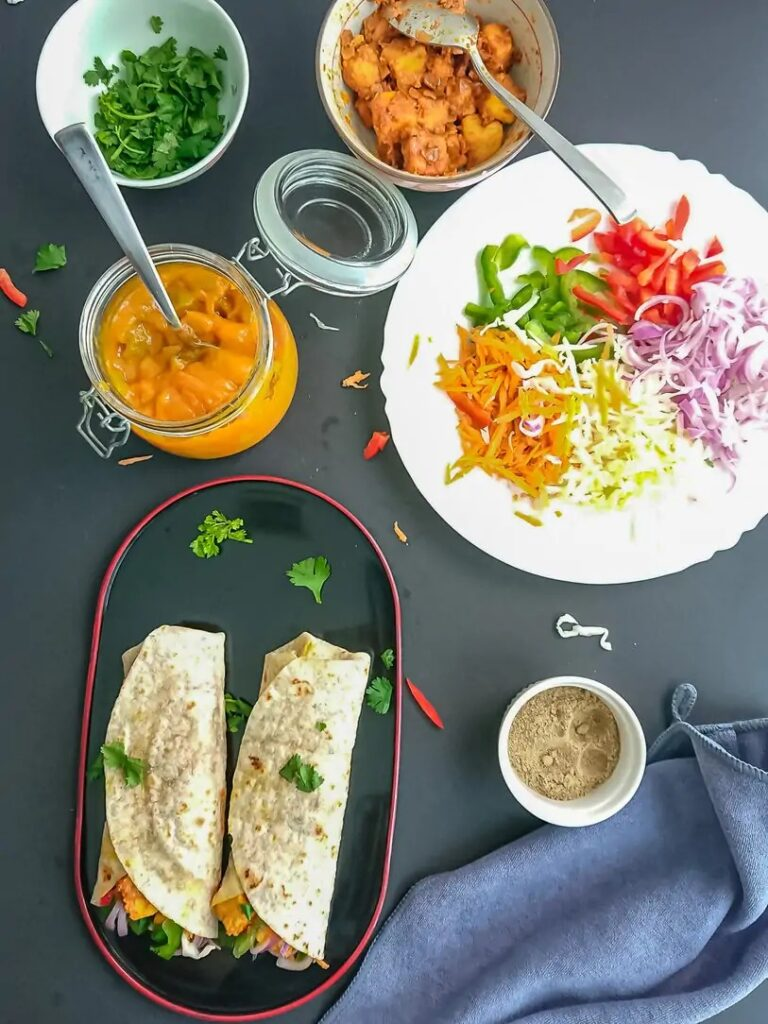 50 Healthy Vegetarian Recipes - Kathi Roll with Paneer   Hurry The Food Up