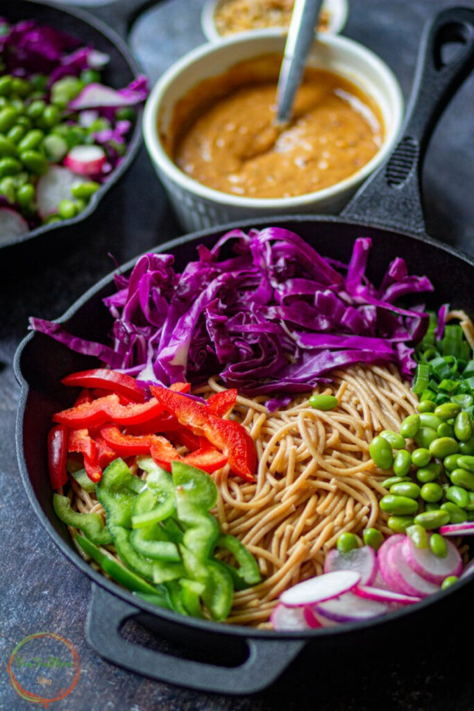 50 Healthy Vegetarian Recipes - Thai Noodle Salad   Hurry The Food Up