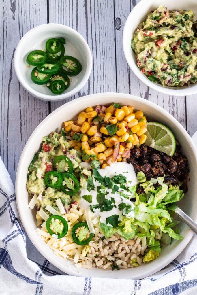 50 Healthy Vegetarian Recipes - 30 Minute Vegetarian Burrito Bowl   Hurry The Food Up