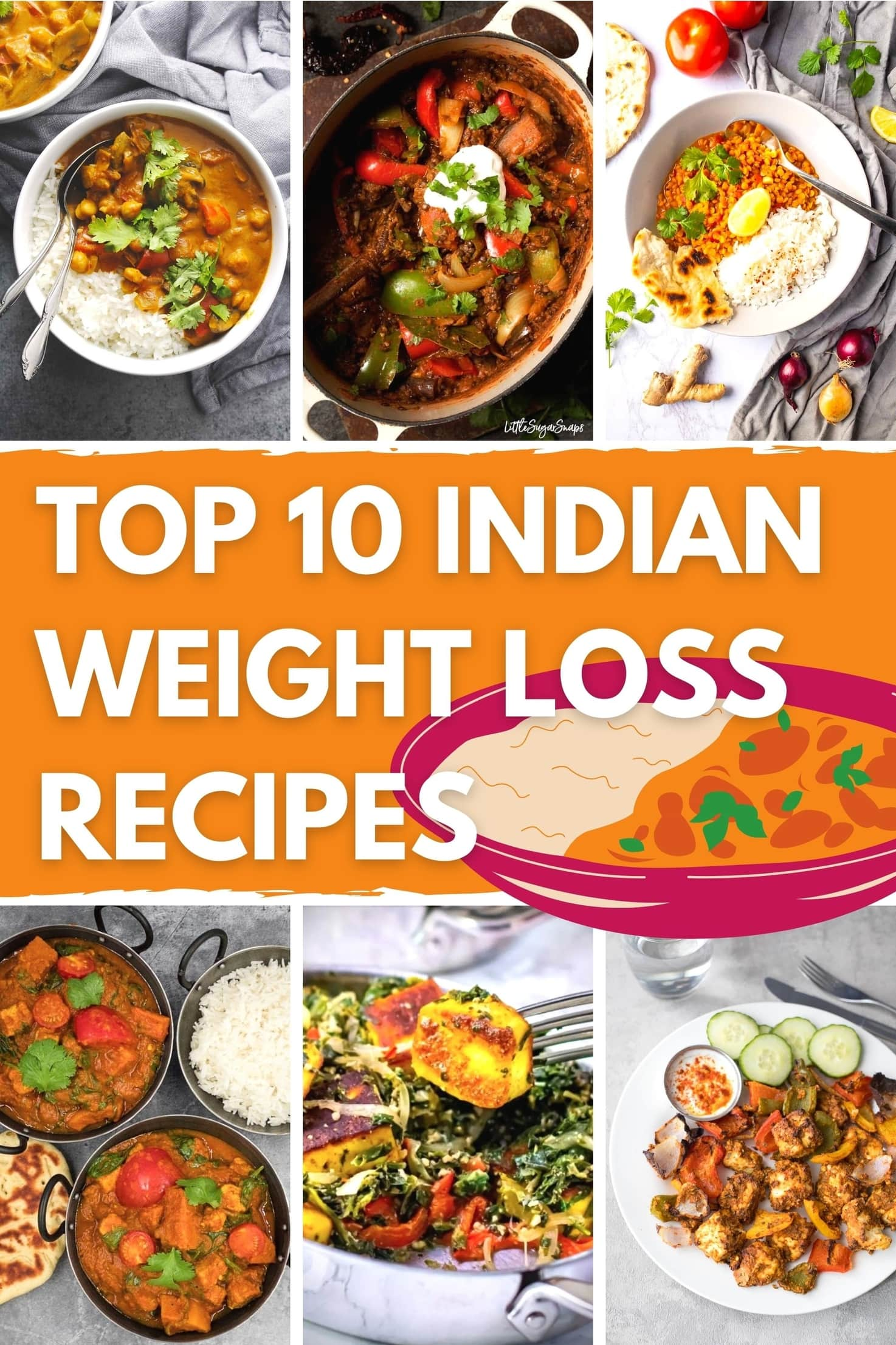 Top 10 Indian Recipes for Weight Loss - Title Image | Hurry The Food Up