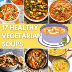 17 Healthy Vegetarian Soup Recipes for Weight Loss - Featured Image | Hurry The Food Up