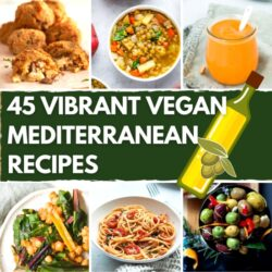 45 Vibrant Vegan Mediterranean Recipes - Featured Image | Hurry The Food Up