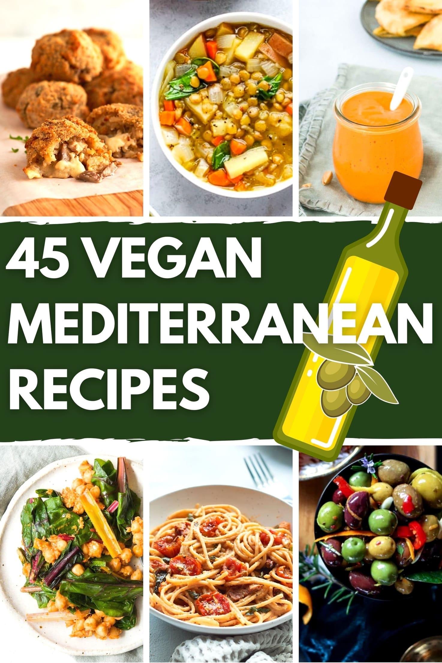 45 Vibrant Vegan Mediterranean Recipes - Title Image   Hurry The Food Up