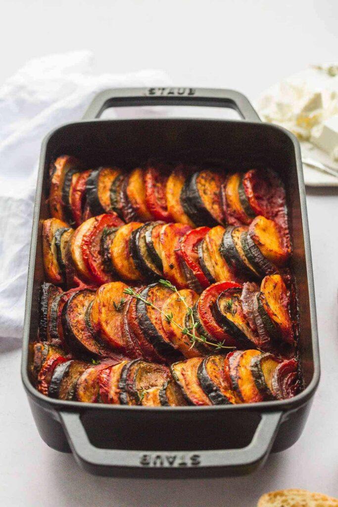 45 Vibrant Vegan Mediterranean Recipes - Briam   Hurry The Food Up