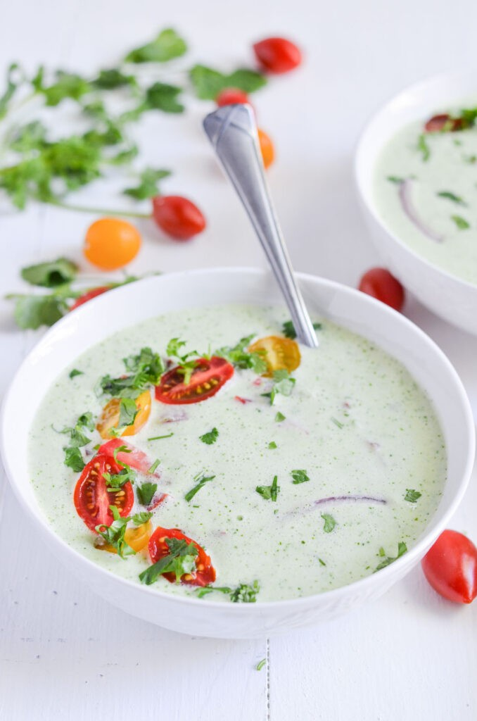 17 Healthy Vegetarian Soup Recipes for Weight Loss - Cold Cucumber Soup with Greek Yoghurt  Hurry The Food Up