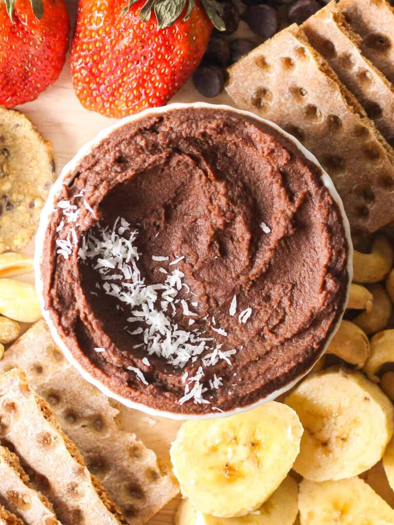 15 Low Calorie Desserts under 100 Calories – Dark Chocolate Hummus | Hurry The Food Up