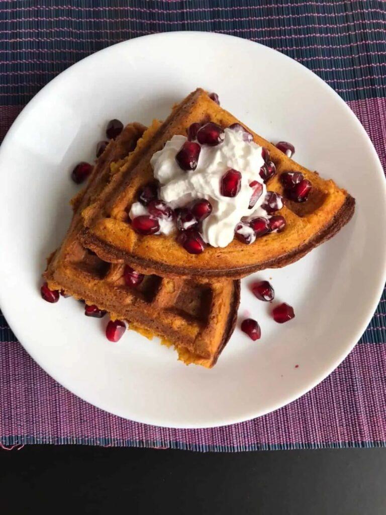 40 Vegan Low Calorie Meals -Sweet Potato Waffles | Hurry The Food Up