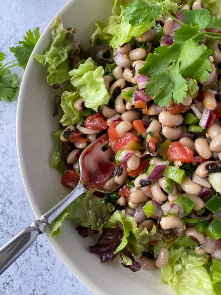 40 Vegetarian Low Calorie Meals -Lucky Black-Eyed Pea Salad | Hurry The Food Up