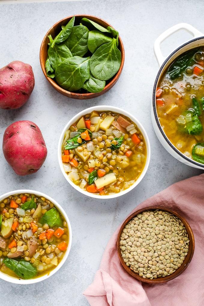 45 Vibrant Vegan Mediterranean Recipes - Lentil Stew   Hurry The Food Up