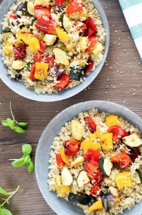 45 Vibrant Vegan Mediterranean Recipes - Mediterranean Veg and Quinoa  Hurry The Food Up