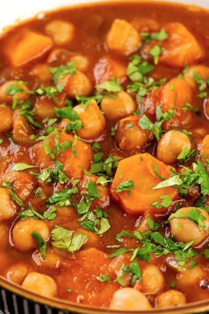 45 Vibrant Vegan Mediterranean Recipes - Moroccan Chickpea Stew  Hurry The Food Up