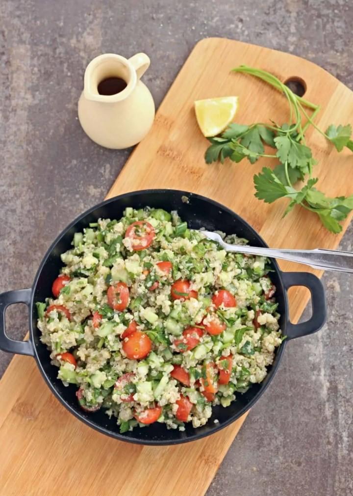 45 Vibrant Vegan Mediterranean Recipes - Quinoa Tabbouleh  Hurry The Food Up