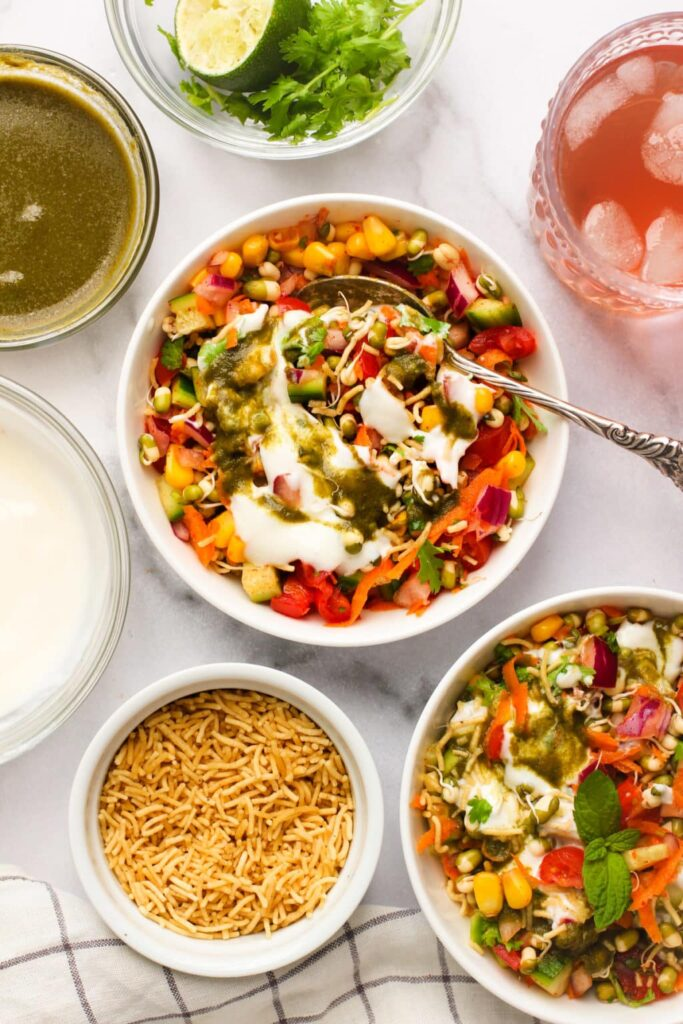 40 Vegetarian Low Calorie Meals -Sprouted Mung Bean Salad | Hurry The Food Up