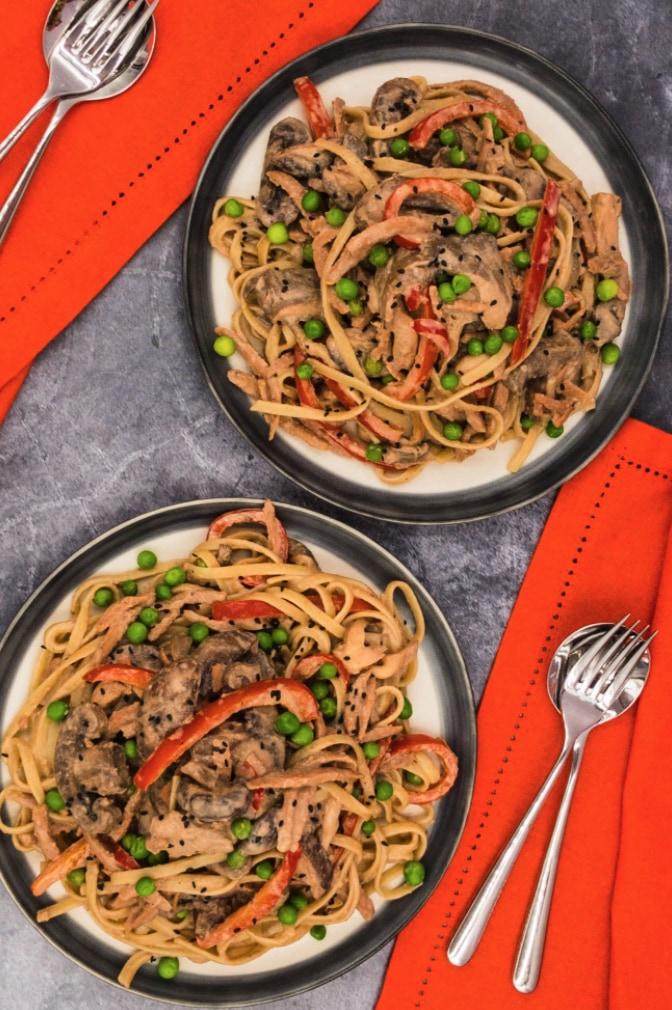 45 Vibrant Vegan Mediterranean Recipes - Tahini Pasta   Hurry The Food Up