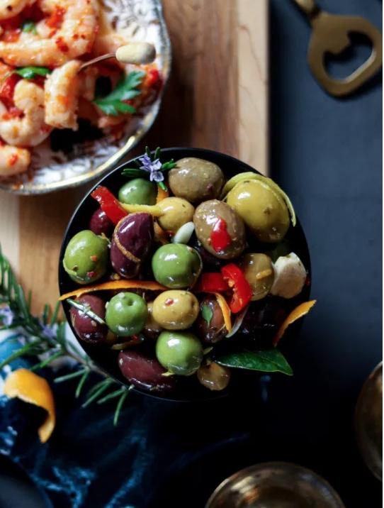 45 Vibrant Vegan Mediterranean Recipes - Warm Marinated Olives   Hurry The Food Up