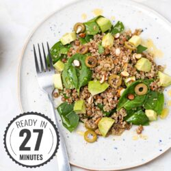 Lentil Quinoa Salad - Protein Power Couple | Hurry The Food Up