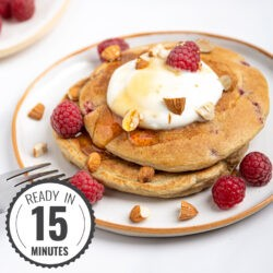 Raspberry Low Calorie Pancakes - Berry Bonanza | Hurry The Food Up