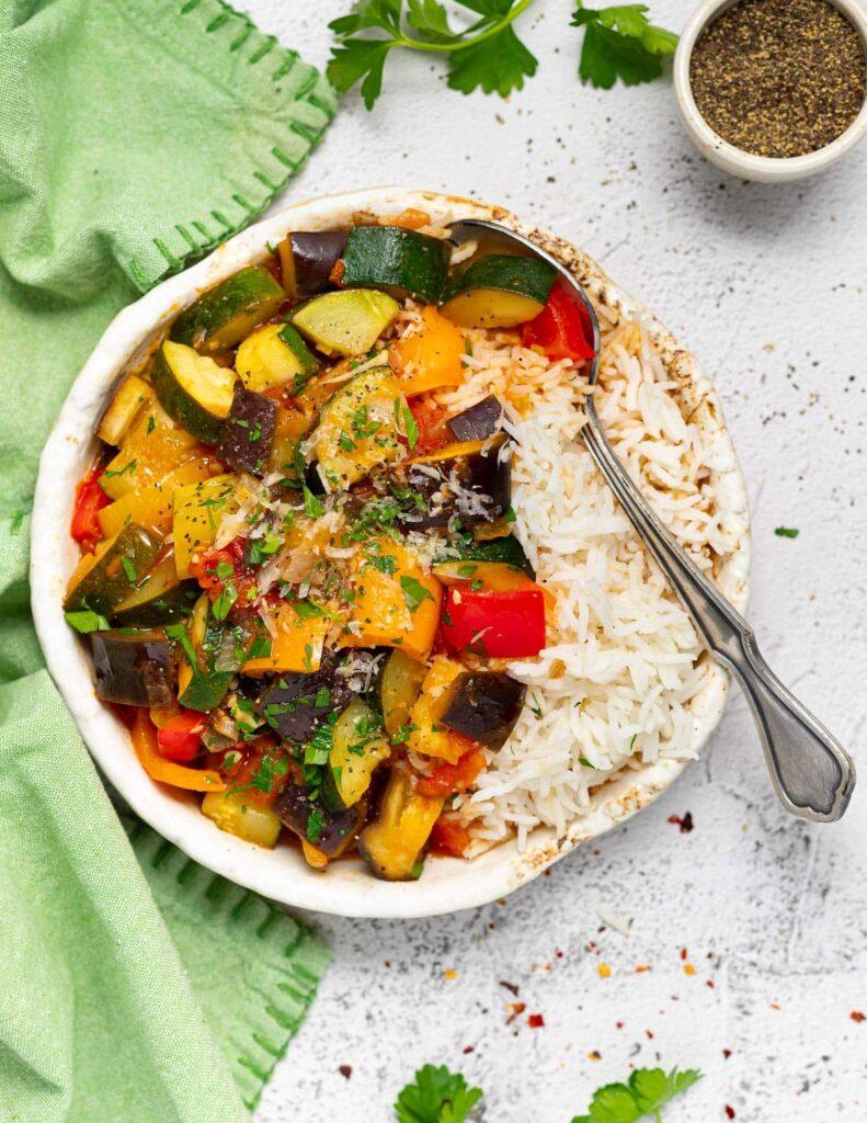 25 Vegan Zucchini Recipes - Easy Vegan Ratatouille | Hurry The Food Up