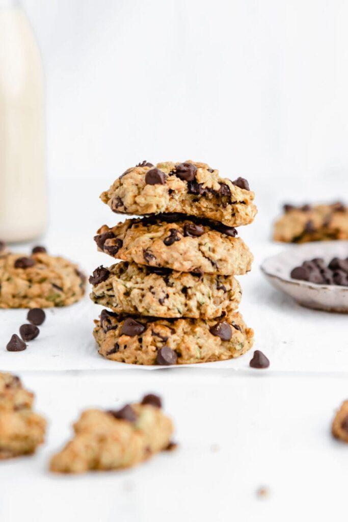 25 Vegan Zucchini Recipes - Chocolate Chip Zucchini Cookies| Hurry The Food Up