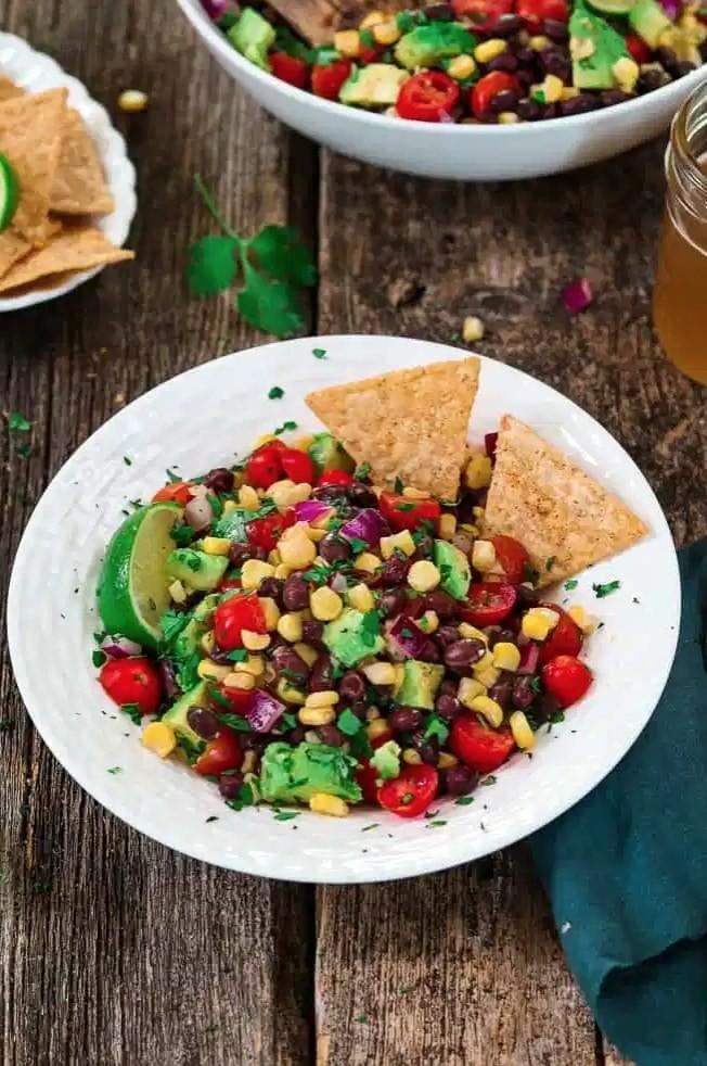30 Lazy Vegan Recipes – Avocado Black Bean Salad  Hurry The Food Up