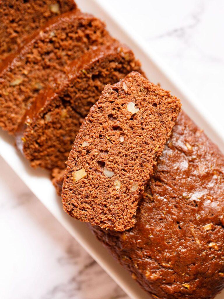 25 Vegan Zucchini Recipes - Chocolate Zucchini Bread| Hurry The Food Up