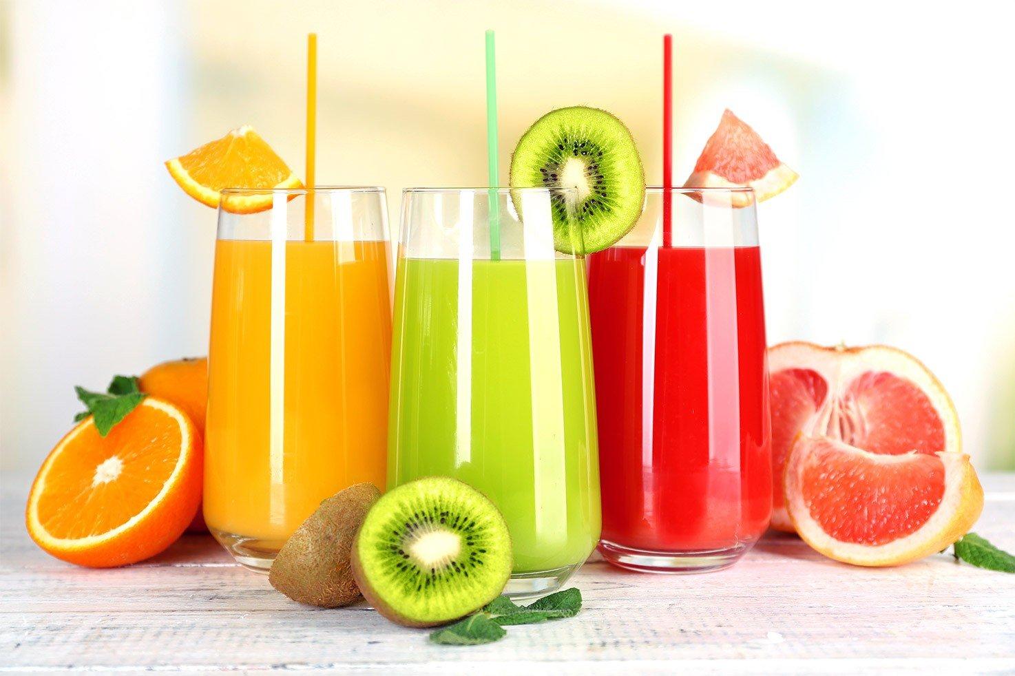 Three kinds of juices like orange, kiwi, grapefruit | Hurry The Food Up