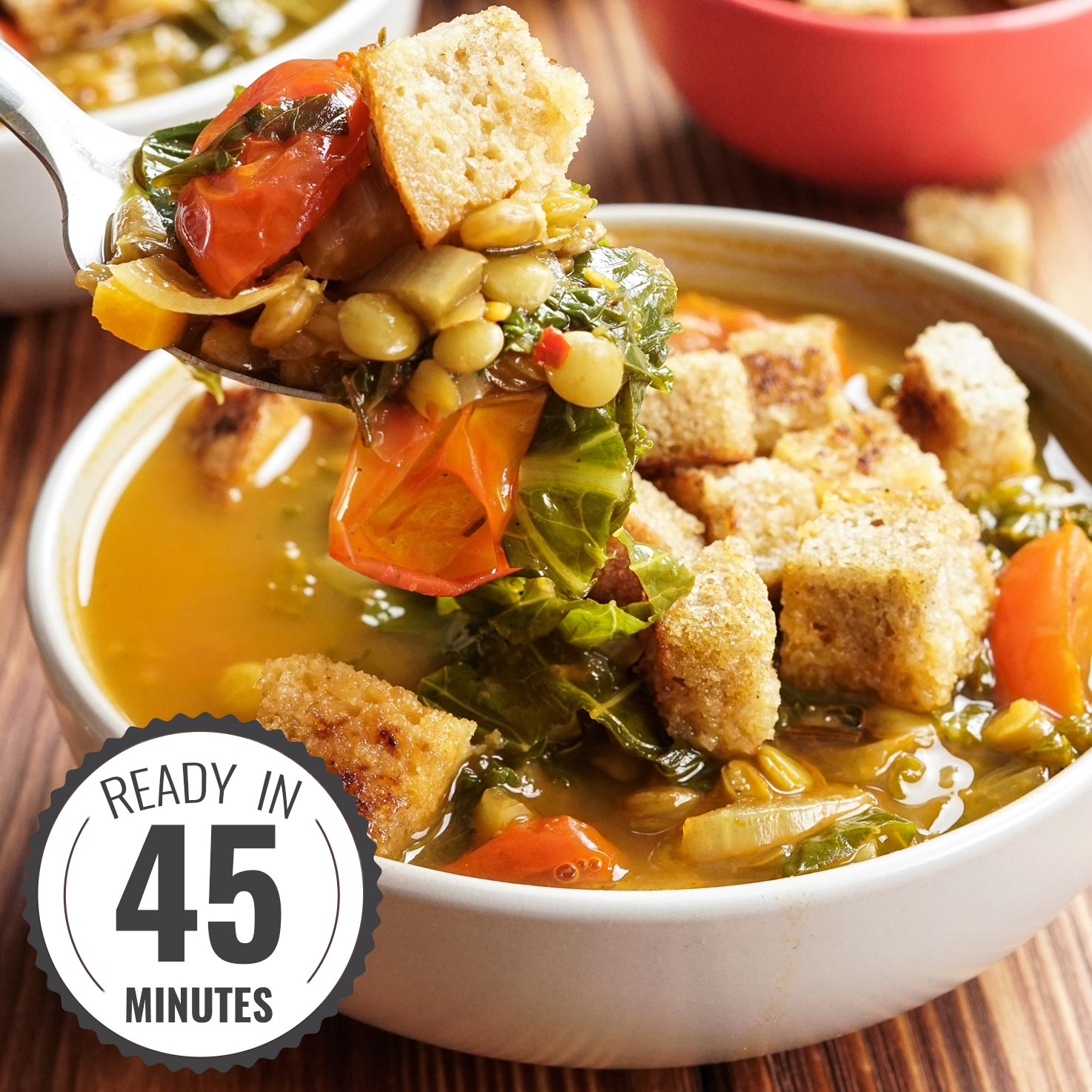 Lentil Vegetable Soup – Calling all legume lovers! | Hurry The Food Up