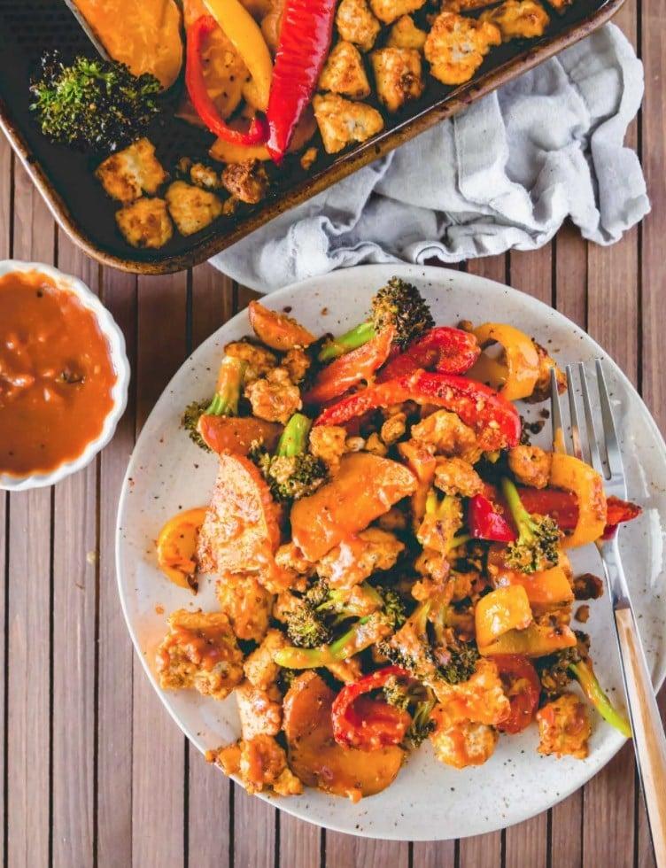 30 Lazy Vegan Recipes – Sheet Pan BBQ Tofu  Hurry The Food Up