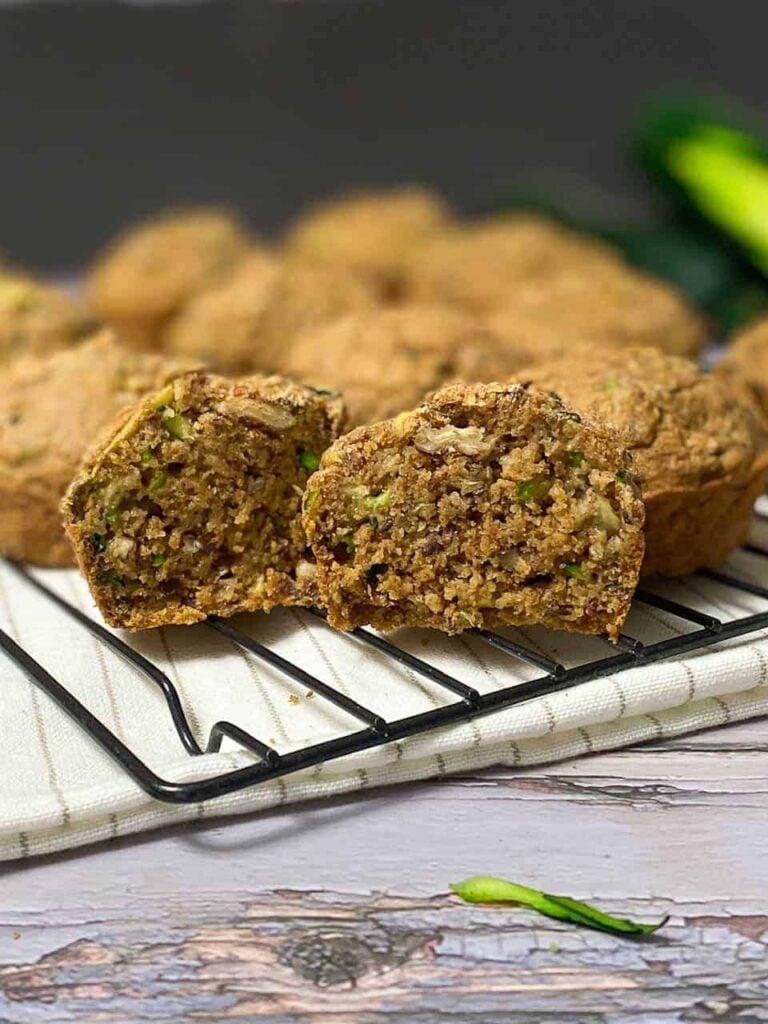 25 Vegan Zucchini Recipes - Vegan Zucchini Muffins| Hurry The Food Up