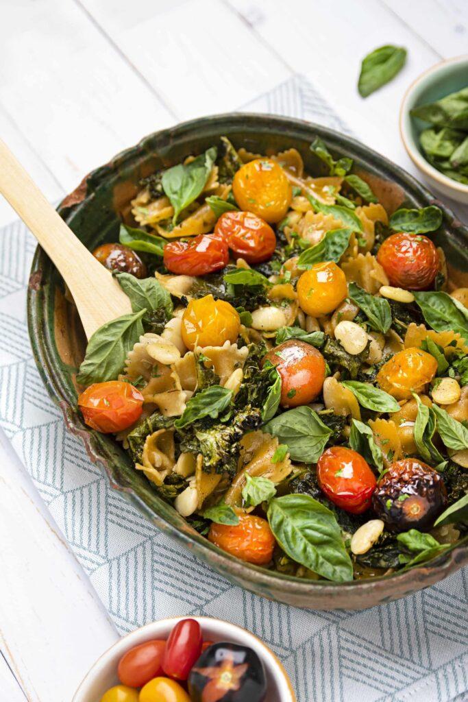 Bean & Pasta Vegetarian Casserole - 1 pot wonder! | Hurry The Food Up