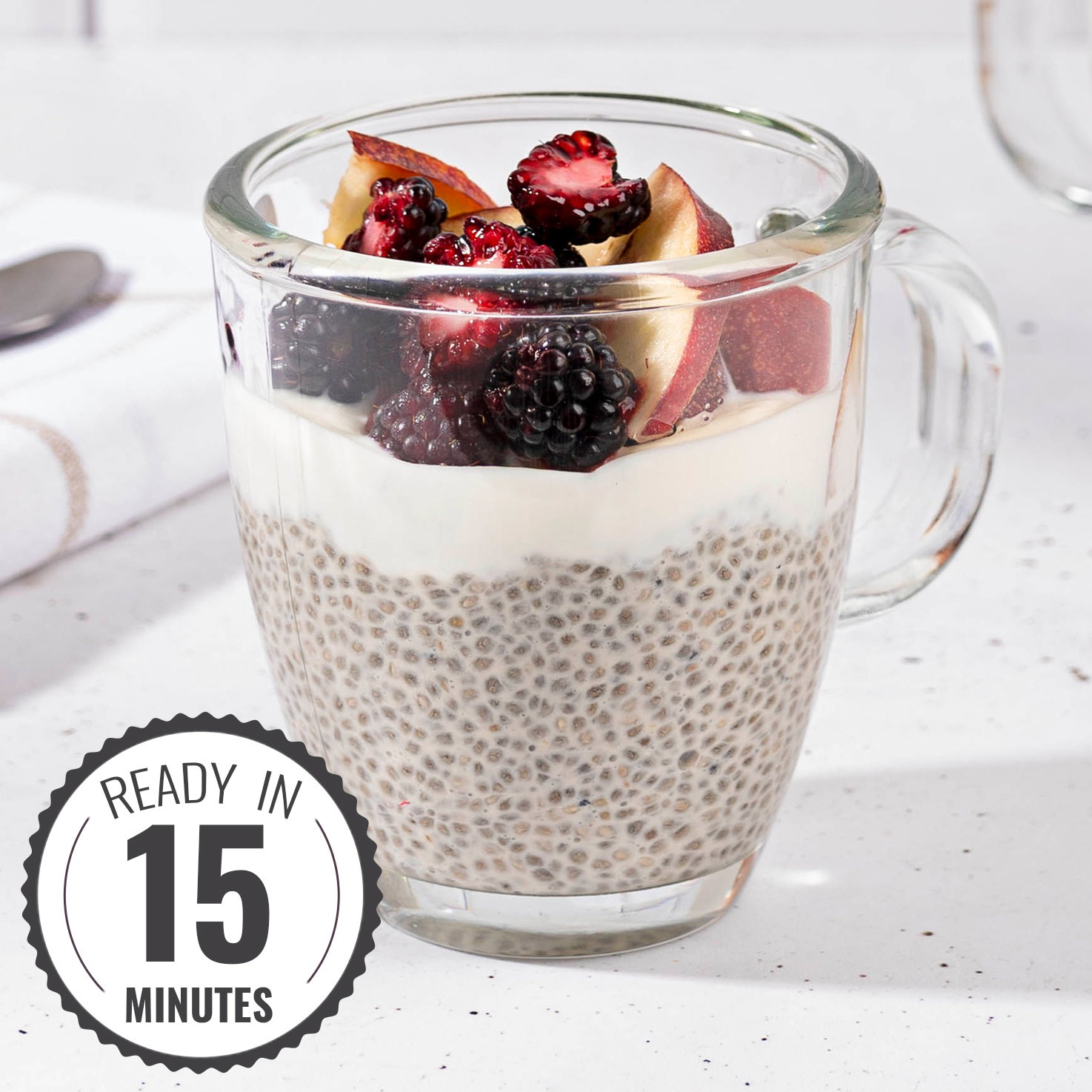 Chia Pudding with Almond Milk - Filling and Slimming | Hurry The Food Up