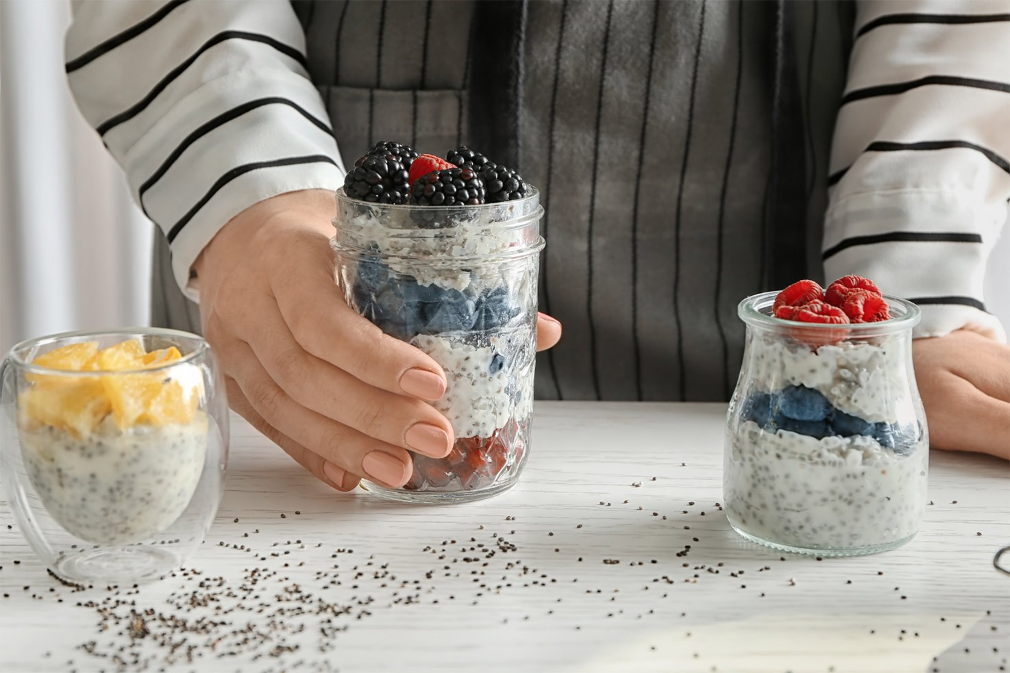 Chia seeds desserts on a table | Hurry The Food Up