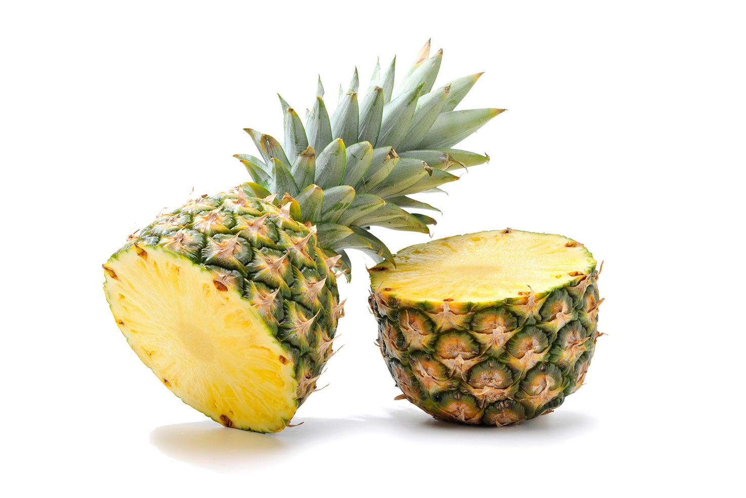 Two pineapple halves | Hurry The Food Up