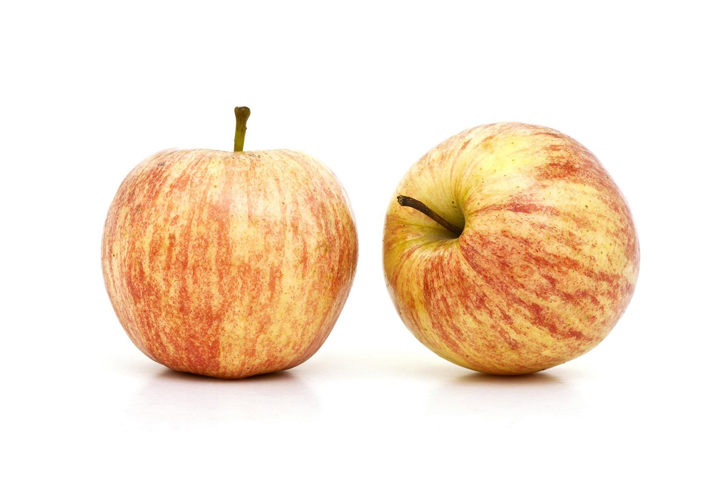 Two apples on white background | Hurry The Food Up
