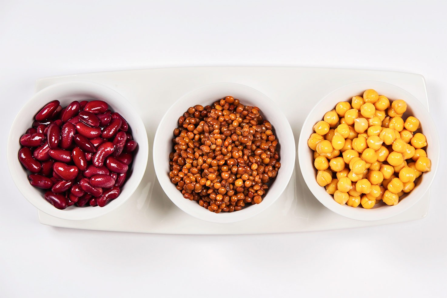 3 small bowls with legumes | Hurry The Food Up